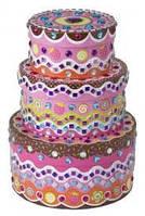 """ТМ """"ALEX"""" арт.178C """"Стикеровая мозаика - Набор коробочек для украшений. Свадебный торт"""""""