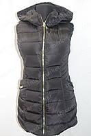 Женская спортивная жилетка безрукавка черная, фото 1