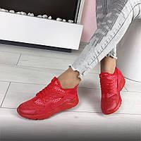 Красные кроссовки Nike Huarache женские