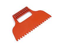 Шпатель для клея квадратный зуб Polax 230 мм