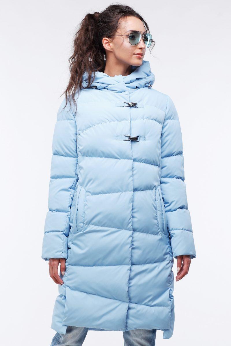 Стильное длинное стеганое пальто