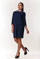 Платье свободного кроя ZANNA BREND 7476 S,M,L (44,46,48) т.синий, фото 1