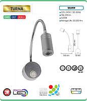 Светодиодный светильник для подсветки картин и зеркал 3W 4200K TURNA