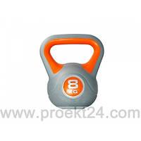 Гиря пластиковая насыпная 8 кг PLASTIC KETTEL BELL
