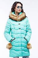 Теплая куртка с отстежным эко-мехом енота