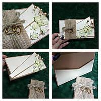 Открытка-конверт для денег /беж