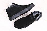 Замшевые зимние ботинки на меху