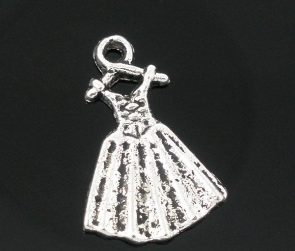"""Подвеска """"Платье"""", 19mm x 13mm, Античное Серебро - Интернет-маркет """"Прикраса"""" в Черкасской области"""
