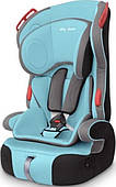 Baby Shield PENGUIN PLUS (ОТ 9КГ ДО 36КГ) grey turquoise (серый-бирюза)