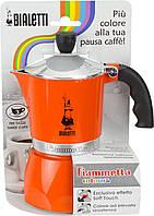 Гейзерная кофеварка Bialetti Fiammetta Orange (3 чашки - 170 мл)