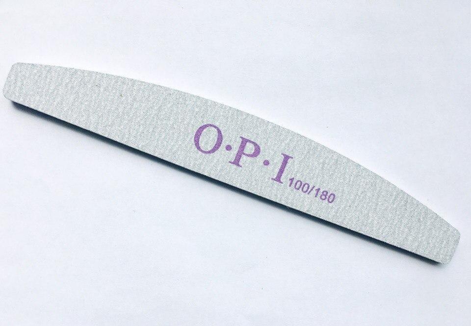 Пилка для ногтей серая купол (луна) O.P.I 100/180
