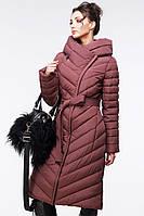 Стеганое длинное пальто
