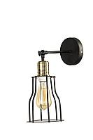 Светильник бра Carlo de Santi LOFT черный LFT W28-1 BL