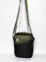 Мужская спортивная стильная повседневная сумка на плечо ONE POLAR 5693 зеленая