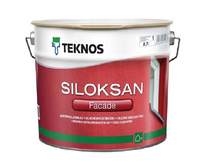 Краска силиконовая TEKNOS SILOKSAN фасадная белая (база1) 2,7л