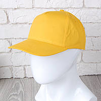 Желтая однотонная кепка на липучке (Комфорт)