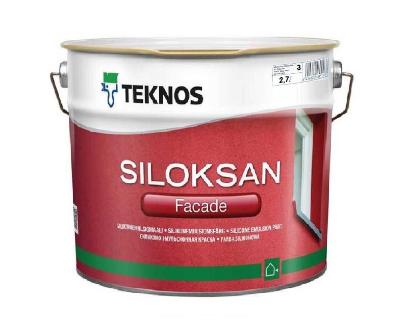 Краска силиконовая TEKNOS SILOKSAN фасадная транспарентная (база 3) 2,7л