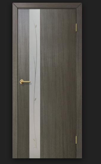 Дверное полотно Зеркало 1 ПВХ Омис Венге