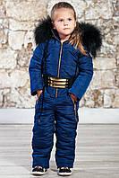 """Тёплый детский комбинезон унисекс на синтепоне рост до 134 см """"Moncler"""" в расцветках"""