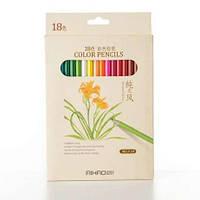 Набор цветных карандашей 18 цветов AH9015-18
