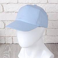 Голубая однотонная кепка на липучке (Комфорт)