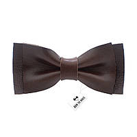 Bow Tie House Кожаная маленькая бабочка глянцевая с темно-коричневой кожи Алькар
