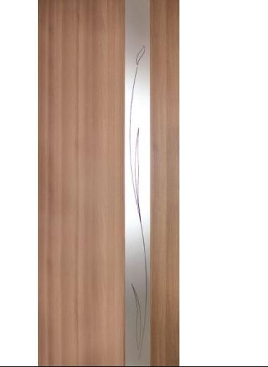 Дверное полотно Зеркало 1 ПВХ Омис Дуб золотой