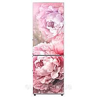Виниловые наклейки на холодильник Розовые Пионы