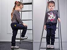 """Детские стильные тёплые спортивные штаны на байке """"Ferrari"""" в расцветках, фото 3"""