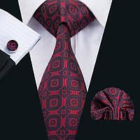 Подарочный мужской набор темно-красный в геометрических фигурах JASON&VOGUE