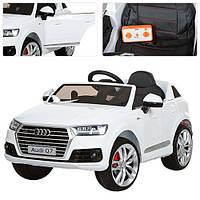Детский электромобиль джип Audi Q7 M 3231-1 EBLR белый, кожаное сиденье и мягкие колеса