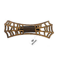 Bow Tie House Бабочка деревянная в форме паутинки - коричневая