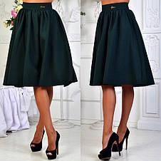 """Стильная женская юбка средней длины 052 """"Габардин Миди"""" в расцветках, фото 3"""