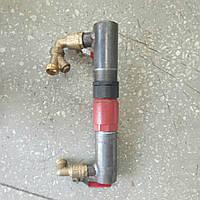 Байпас стальной для отопления 40мм длинный с латунным клапаном, базовая длина насоса 180мм