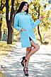 """Элегантное короткое женское пальто 0257 """"Кашемир Бантик"""" в расцветках, фото 3"""