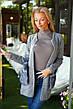 """Женская стильная вязанная кофта-кардиган 8068 """"Вязка Карманы Мех"""" в расцветках, фото 4"""