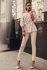 """Элегантный женский брючный костюм 0073 """"Крестьянка Ангора Гипюр"""" в расцветках, фото 3"""