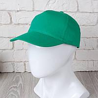 Зеленая однотонная кепка на липучке (Комфорт)