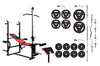 Набор Strong 84 кг со скамьей HS-1070 с тягой и партой  для дома и спортзала