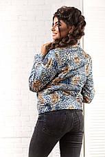 """Женская стильная короткая куртка на синтепоне 2066 """"Philipp Plein Leo"""", фото 3"""
