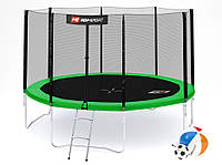 Батут Hop-Sport 12ft (366cm) зеленый с внешней сеткой