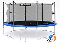 Батут Hop-Sport 14ft (427cm) синий с внутренней сеткой