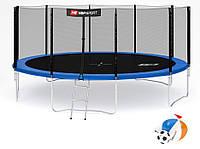Батут Hop-Sport 16ft (488cm) синий с внешней  сеткой