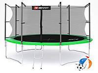 Батут Hop-Sport 14ft (427cm) зеленый с внутренней сеткой