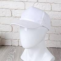Белая однотонная кепка на липучке (Комфорт)