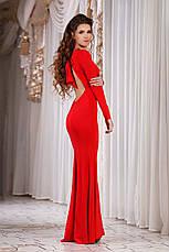 """Элегантное длинное вечернее платье с открытой спиной 429 """"Годе Спина Бантик"""" в расцветках, фото 2"""