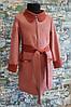 Кардиган-пальто на девочку  р. 134-152 коралл