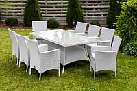Садовая мебель Ротанг TRAPANI 9 белая