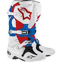 TECH 10 WHT BLUE RED