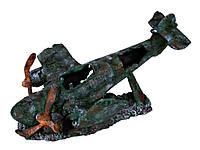 Декорация Trixie Aeroplane Wreck для аквариума самолет, полиэфирная смола, 35 см